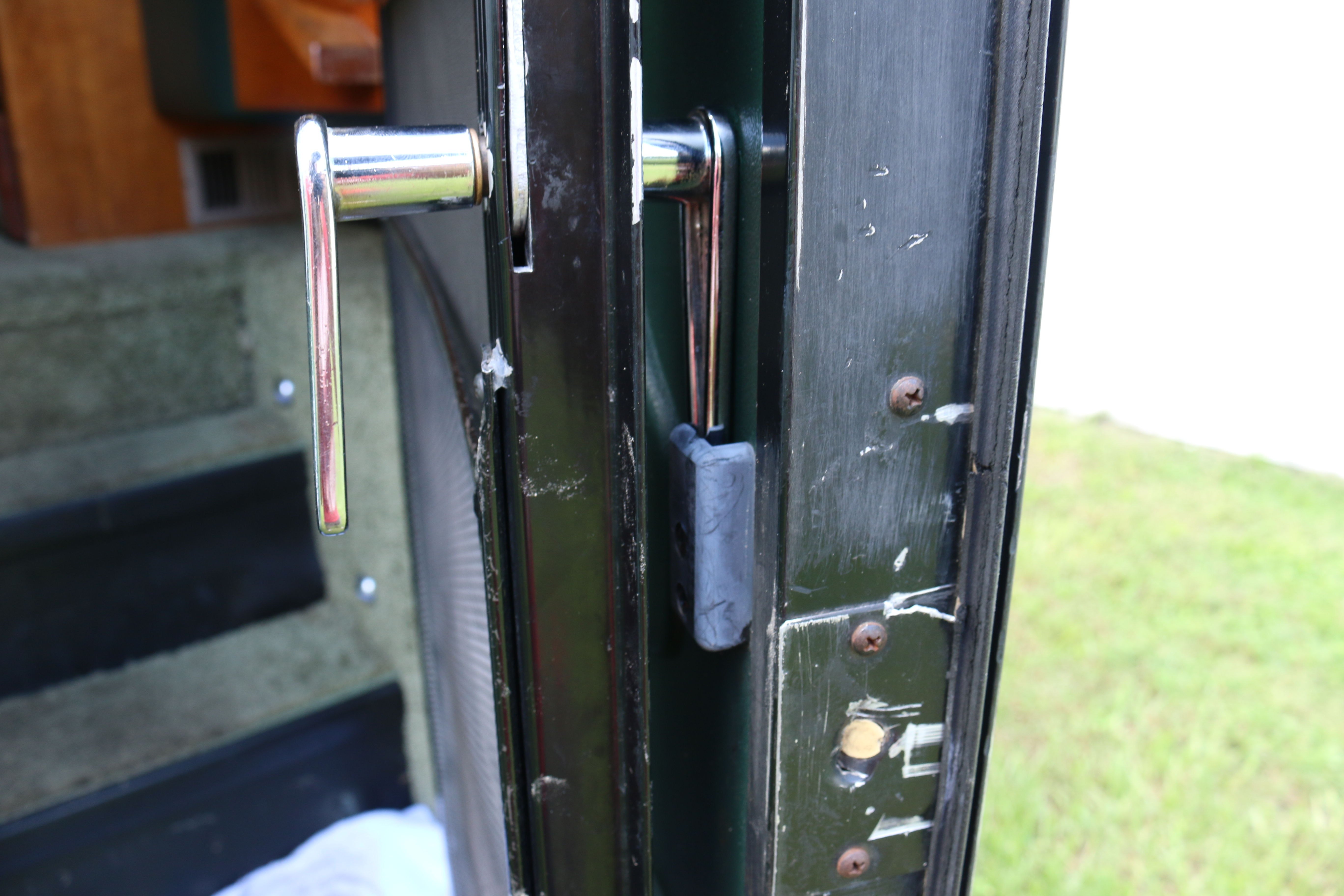 The Screen Door Latch On Our 1999 Monaco Dynasty Leaves A Little To Be  Desired. Itu0027s A Simple Twist And Lock Mechanism Without Springs Or  Retention.